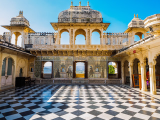 Courtyard at Udaipur City Palace