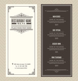 Restaurant or cafe menu design template with vintage retro frame - 82087462