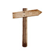 old wood right arrow road arrow sign isolated - 82087862