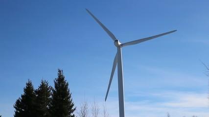 Turbine on a blue sky