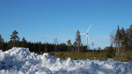 Turbine in the spring