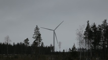 A turbine in the forrest
