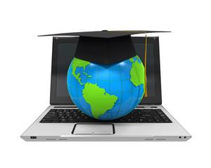 Global Online Education Illustration
