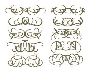 Vintage Calligraphic decorative design elements