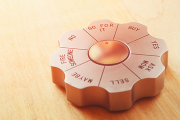 Decision maker office gadget set to the words go for it. busines