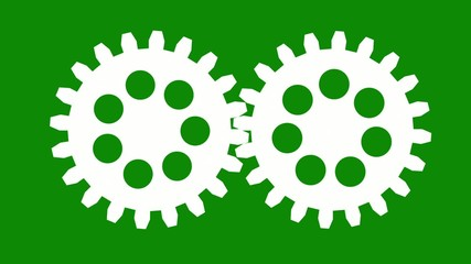 rotating gears with many