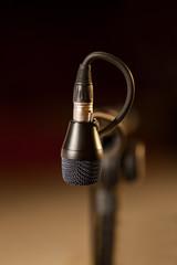 Microphone close up in dark colors