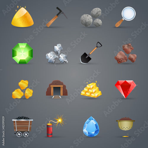 Mining Game Icons - 82091009