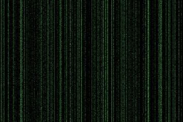 light green digital codes background in matrix style.