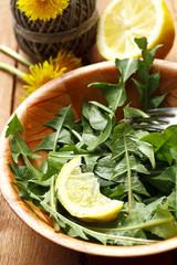 vegetarian salad with lemon