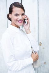 Pretty woman on the phone