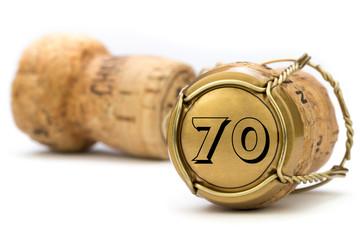 Champagnerkorken Jubiläum 70 Jahre