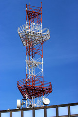 Communication Repeater with blue sky in the background