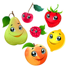Family of funny fruits