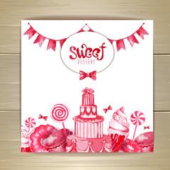 Sweet or dessert menu desing