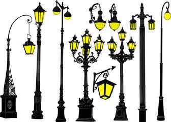 decorated ten street lanterns collection