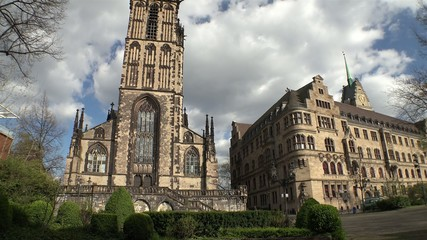 Salvator church and City hall - Duisburg - Germany