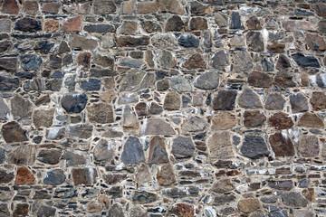 old fortress stone masonry wall pattern