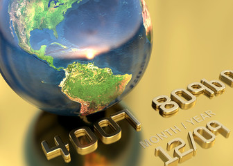 credit card  earth