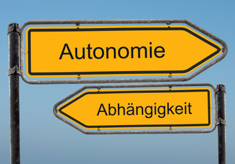 Strassenschild 39 - Autonomie
