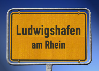 Ortsschild Ludwigshafen am Rhein