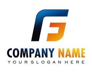 GF circle logo image vector