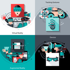 Virtual Augmented Reality Set