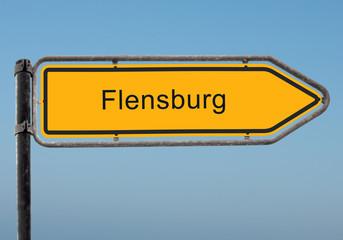 Strassenschild 35 - Flensburg