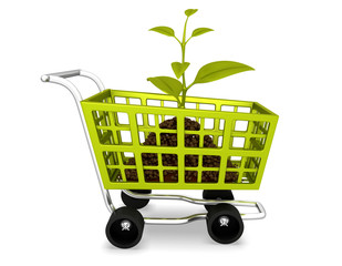 planting shopping cart