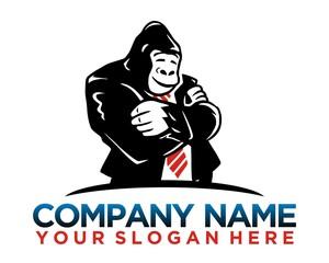 monkey gorilla logo image vector