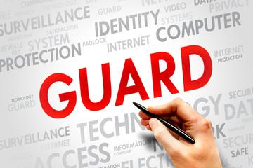 GUARD word cloud, security concept