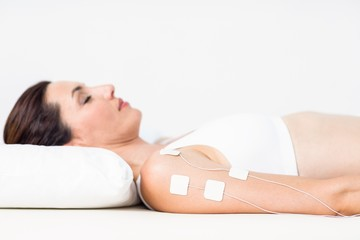Woman having electrotherapy