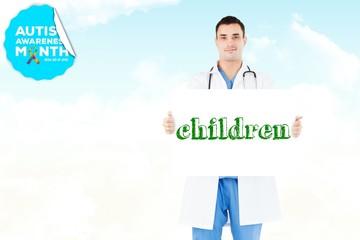 Children against blue sky