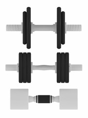 Dumbbells fitness isolated