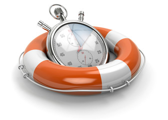 stopwatch lifebuoy
