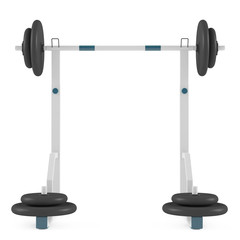 Weight bench isolated