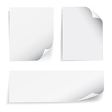Fototapety Blank Sheet Paper Page Curl Set