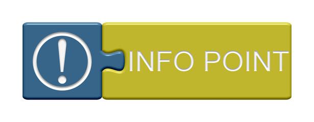 Puzzle Button aus zweit Teilen zeigt: Info Point