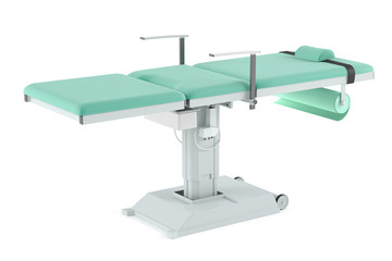 Massage medical bed isolated