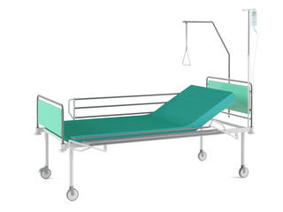 Medical bed isolated