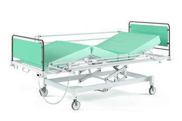 Medical transform  bed isolated