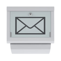 Modern mailbox isolated