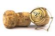 Leinwandbild Motiv Champagnerkorken 20 Jahre Jubiläum