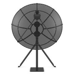 Satellite antenna isolated
