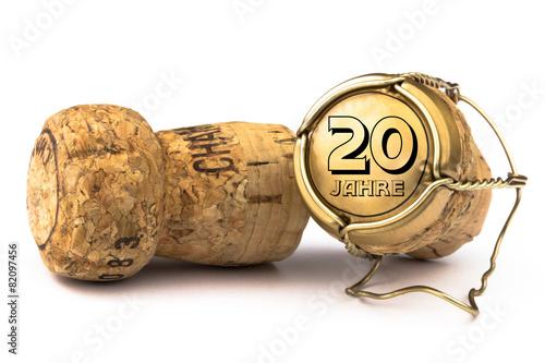Plexiglas Uitvoering Champagnerkorken 20 Jahre Jubiläum