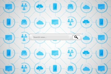 Composite image of search engine