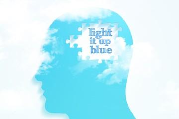 Composite image of light it up blue