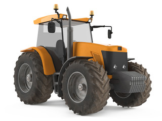 Tractor isolated