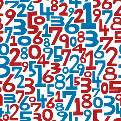 seamless pattern numbers