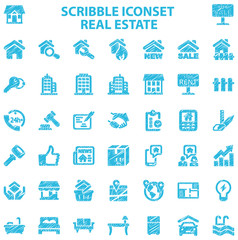 Scribble Iconset Real Estate